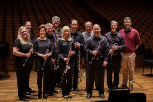 Clarinet Fusion at the San Francisco Community of Music Makers with SFS mentor & clarinetist, Jerome Simas, and arranger & President, World Association for Symphonic Bands and Ensembles Professor of Music, Director of Bands, Emeritus California Polytechnic State University, San Luis Obispo, California, USA, William V. Johnson
